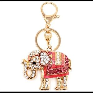New elephant keychain, colorful and sparkly